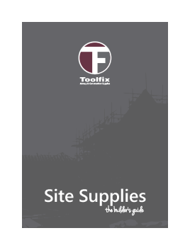 Site Supplies Catalogue - 2016